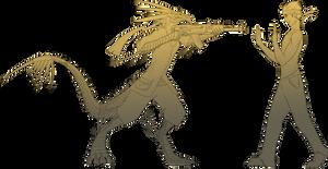 Line-Art Comish - The Wrong Dragon