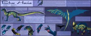 Ref Sheet Comish - Blue Hasia