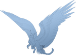 Line-Art Comish - Snowy Wings