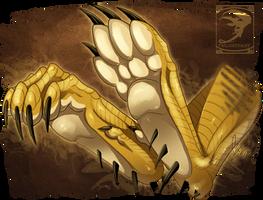 Eid Muzafr - Sandy Desert Dragon Paws by TwilightSaint