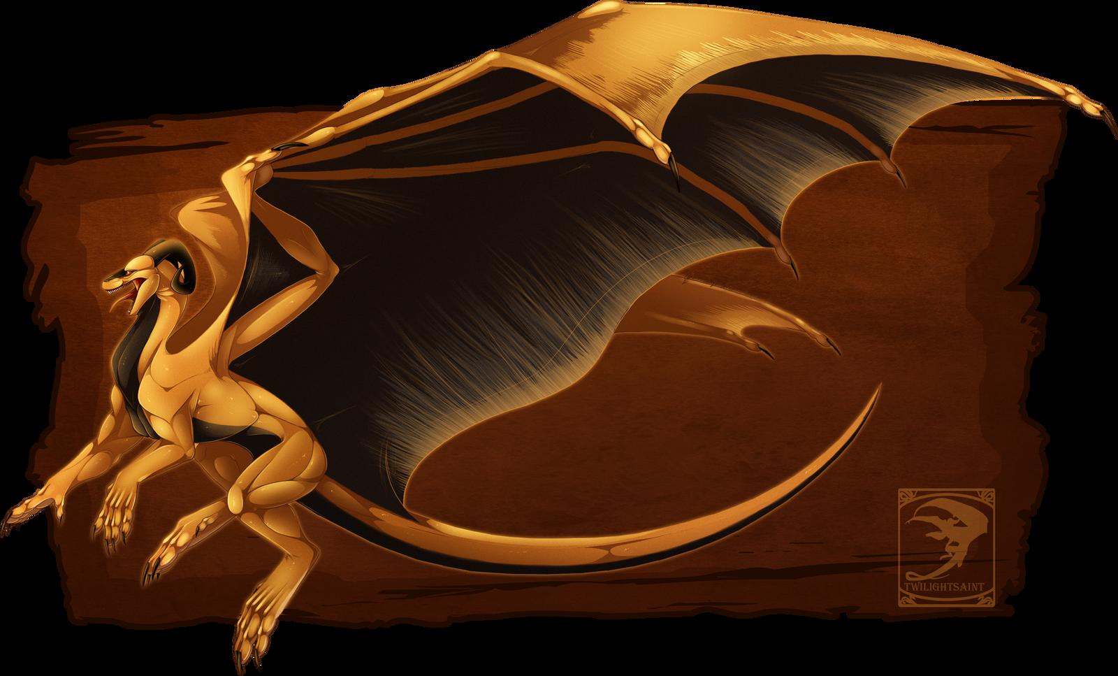 Comish - Golden Ferocity by TwilightSaint