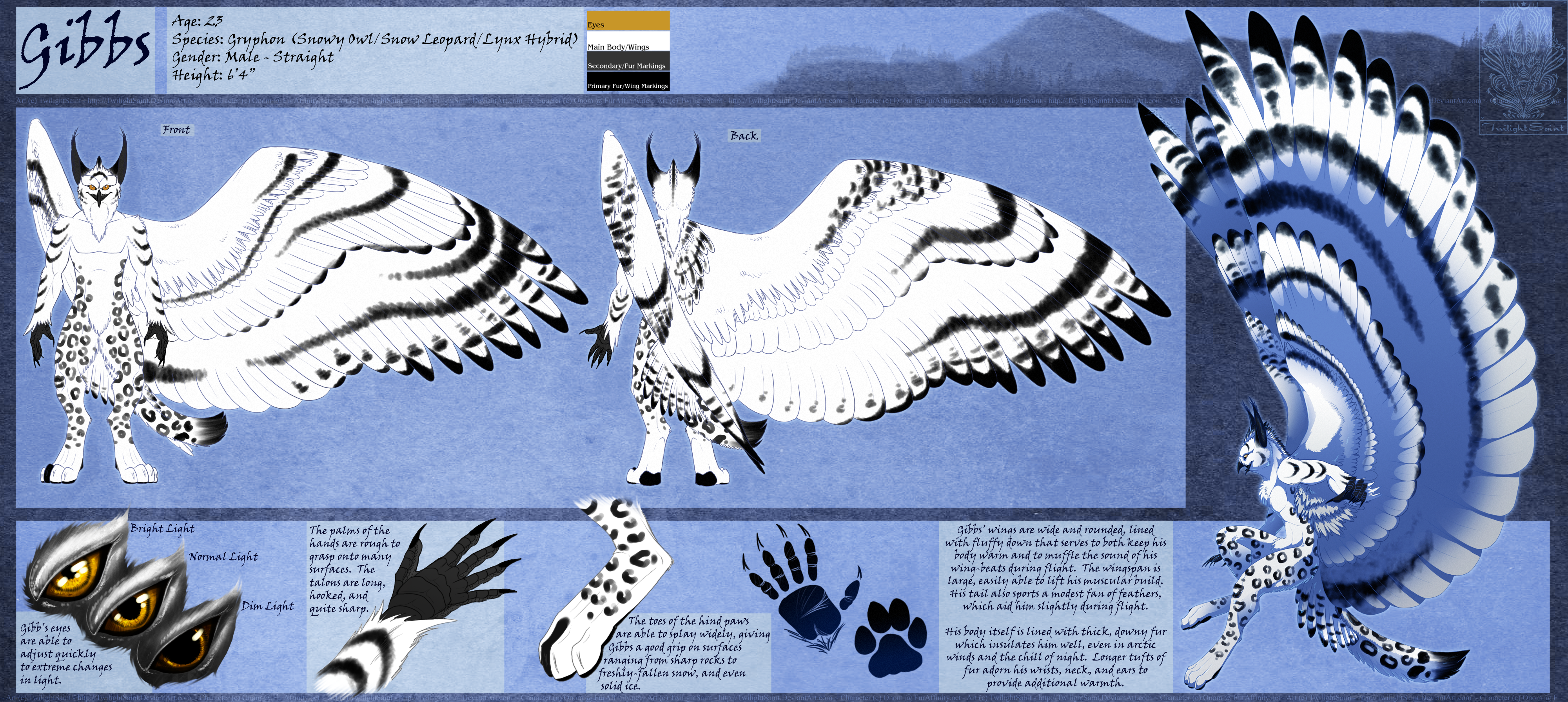 Ref Sheet Comish - Gibbs 2.0 by TwilightSaint