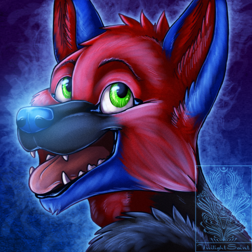 Icon Comish - Party Dog by TwilightSaint