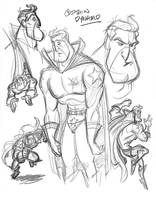 Captain Dynamo sketches by tombancroft