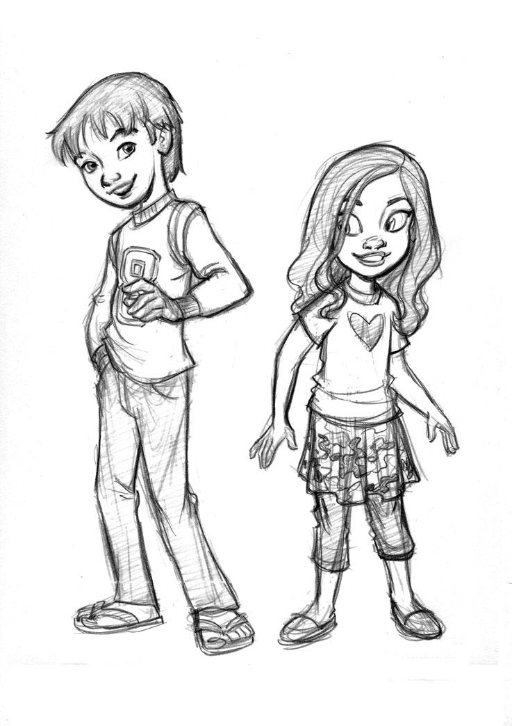 Boy And Girl Char Designs By Tombancroft On Deviantart