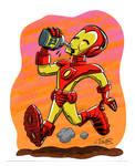 Cartoony Iron Man