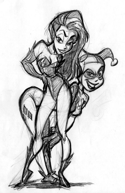 Harley and Ivy sketch by tombancroft