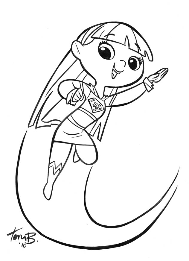 Supergirl mary blair style by tombancroft on deviantart for Supergirl coloring page