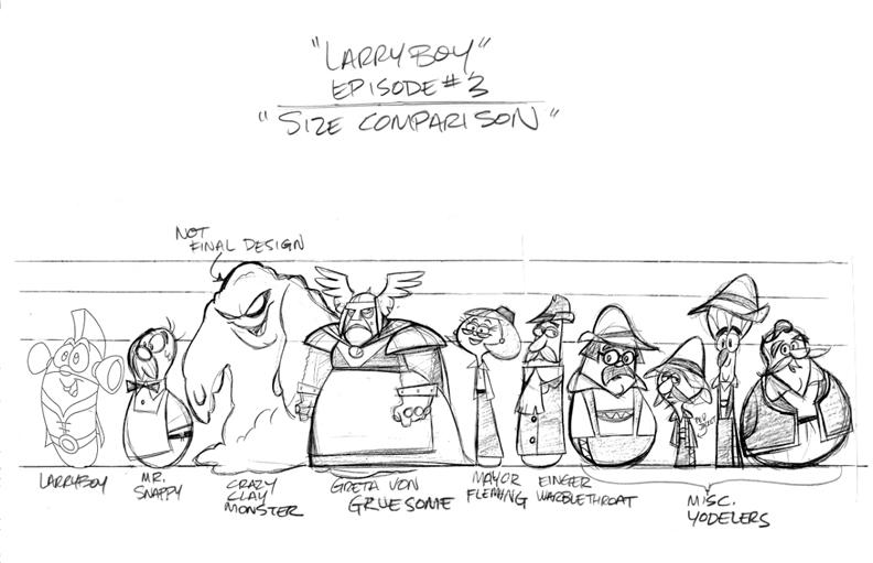 Tom Bancroft Character Design Book : Larryboy models third episode by tombancroft on deviantart