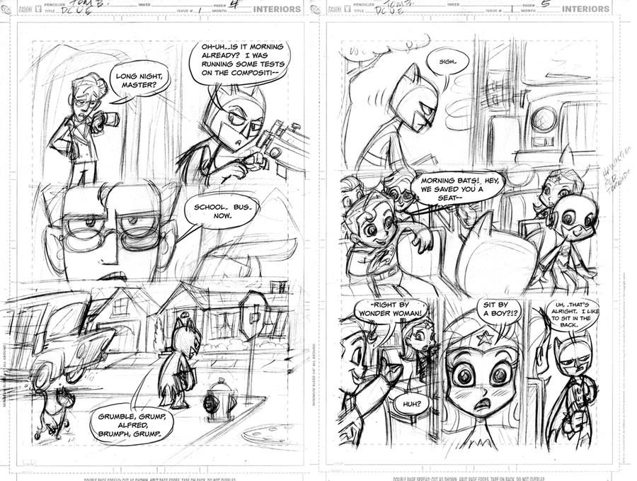 DCUElementary: pgs 4-5_STORY by tombancroft