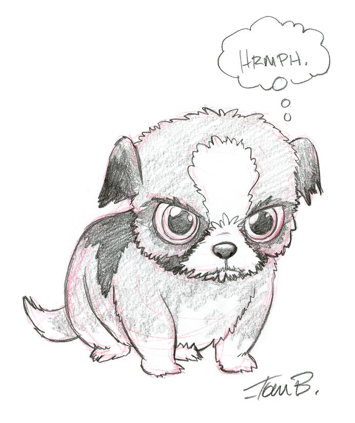 Beautiful Shih Tzu Anime Adorable Dog - grumpy_shih_tzu_by_tombancroft  Best Photo Reference_68622  .jpg