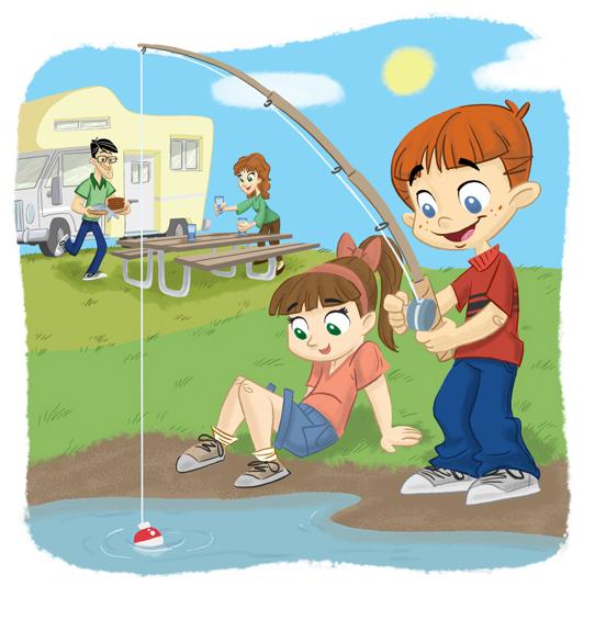 Family Fishing_unused art by tombancroft