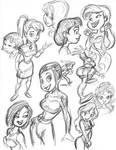 bancroft girl doodles