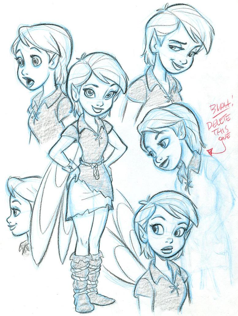 Tom Bancroft Character Design Book : Tinkerfairy designs by tombancroft on deviantart