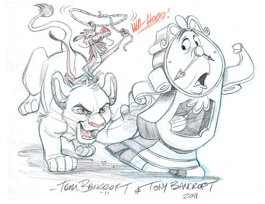 Smashed Head 802 74 Disney Bro Jam Cogsworth Simba And Mushu By Tombancroft