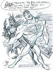 Jerk Superman and Batman by tombancroft