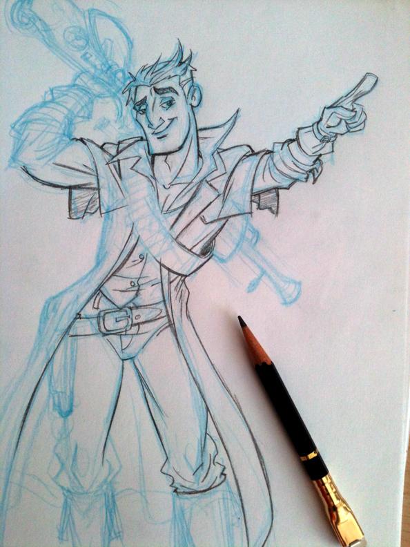 Steampunk Gunslinger by tombancroft
