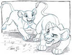 Simba and Nala- Team up sketch week by tombancroft