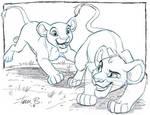 Simba and Nala- Team up sketch week by tombancroft
