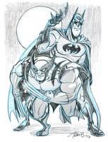 Batman and Wolverine- Team-up week by tombancroft