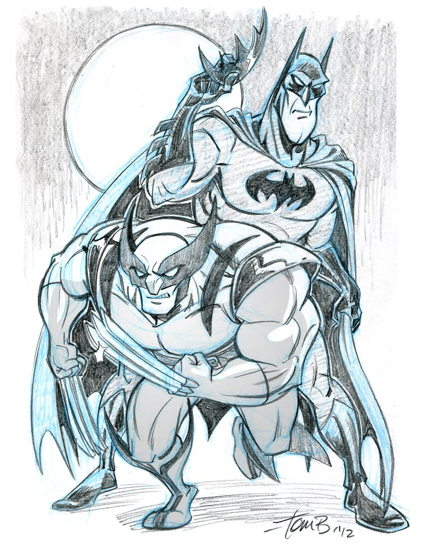 Batman and Wolverine- Team-up week by tombancroft