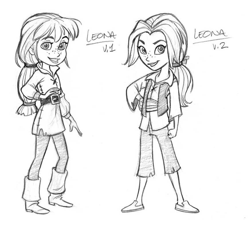 Female pirate drawing - photo#27