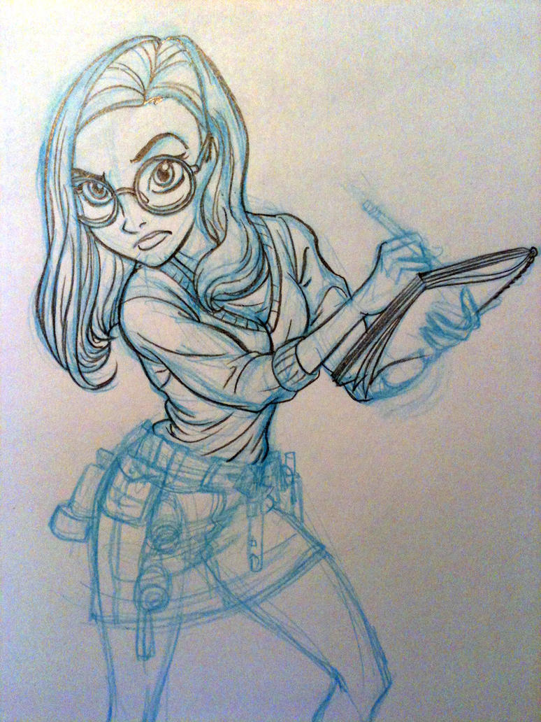 Teen detective- sketch by tombancroft