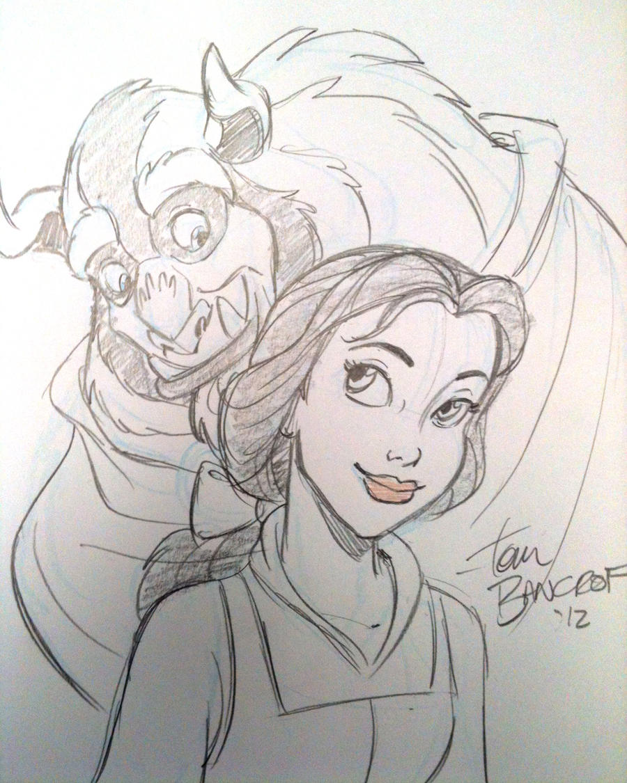 Beauty and the Beast sketch by tombancroft on DeviantArt
