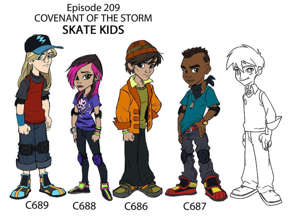 Skate Kids line up by tombancroft