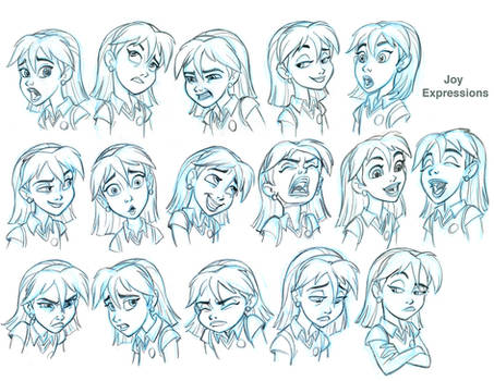 Joy Expressions model sheet for SB