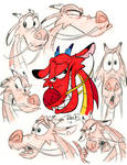 Mushu Expressions doodle page