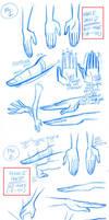 Stylized Hands model sheets