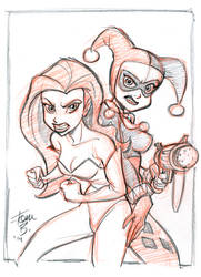Harley and Ivy Sketch1 by tombancroft