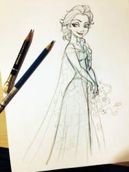 Elsa from FROZEN by tombancroft