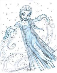 Elsa sketch 2 by tombancroft
