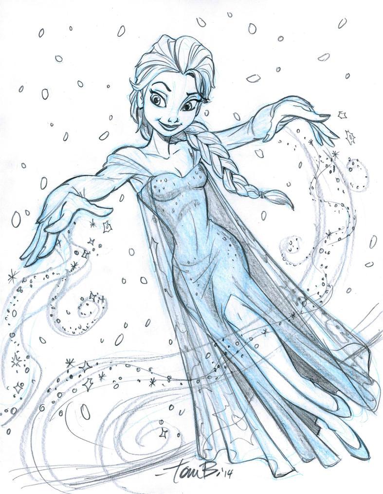 Elsa Sketch 2 By Tombancroft On DeviantArt