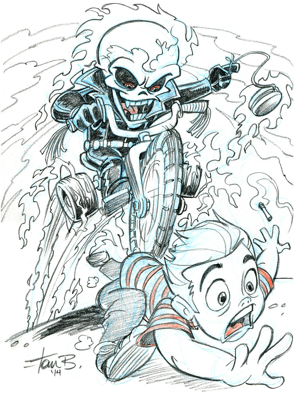 Lil' Ghost Rider- Patron sketch request by tombancroft