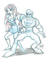 Sketch Request of the Week: Space Ace and Kimberly by tombancroft
