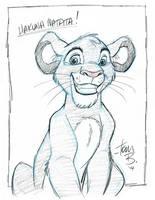 Young Simba sketch by tombancroft