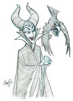 Patreon Sketch Request of the Week: Malificent