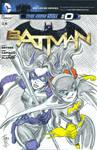 Huntress and Batgirl- sketch cover