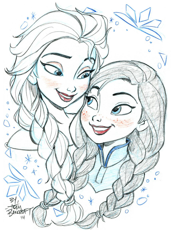 Elsa And Anna By Tombancroft On DeviantArt