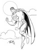 Superman posing by tombancroft