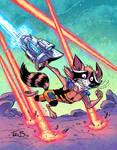 Rocket Raccoon in COLOR