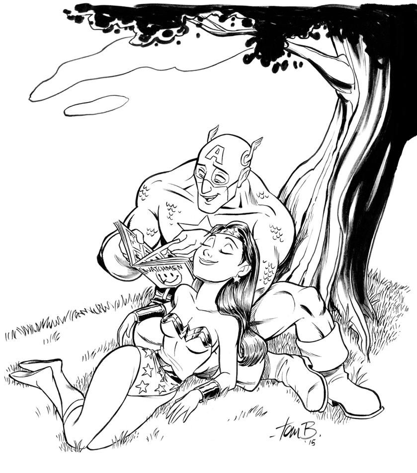 Captain America and Wonderwoman by tombancroft