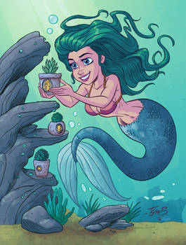 Mermaid with Plant