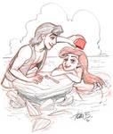 Aladdin and Ariel trade