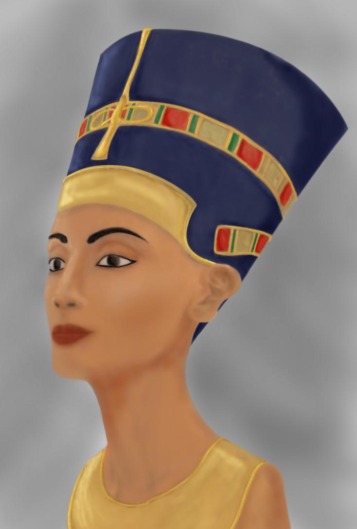 Nefertiti Painting by Falling-Pixie on DeviantArt