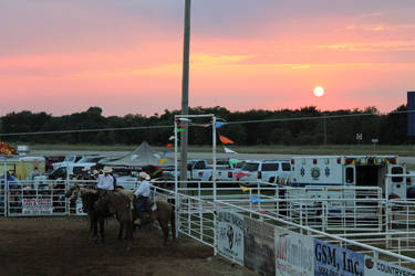 Sunset At The Rodeo by Belvarius