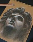 boceto de una escultura